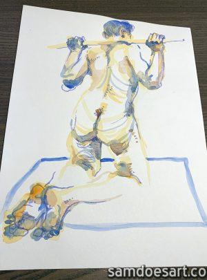 Watercolor Figure #1