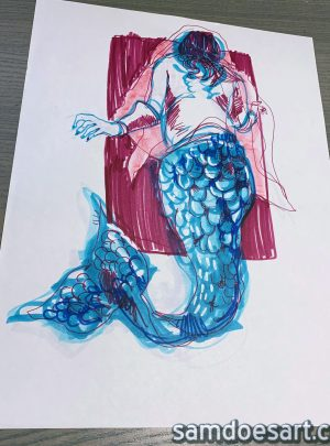 Marker Mermaid