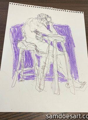 Pen & Crayon Figure #1